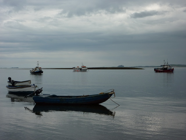 View over to Long Ridge from the jetty, Holy Island