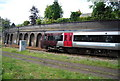 SP0585 : Train on the railway line south of Five Ways by N Chadwick