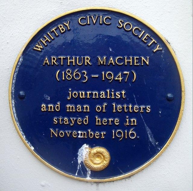 Blue plaque, Arthur Machen