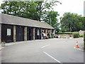 SK2571 : Caravan Club site Chatsworth Park reception by Paul Shreeve