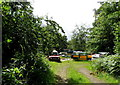 TQ3438 : Assortiment of odd cars, Crawley Down by nick macneill