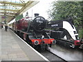 SK5419 : Loughborough Central Station & ex-LMS 8F 2-8-0 8624 by Nigel Cox