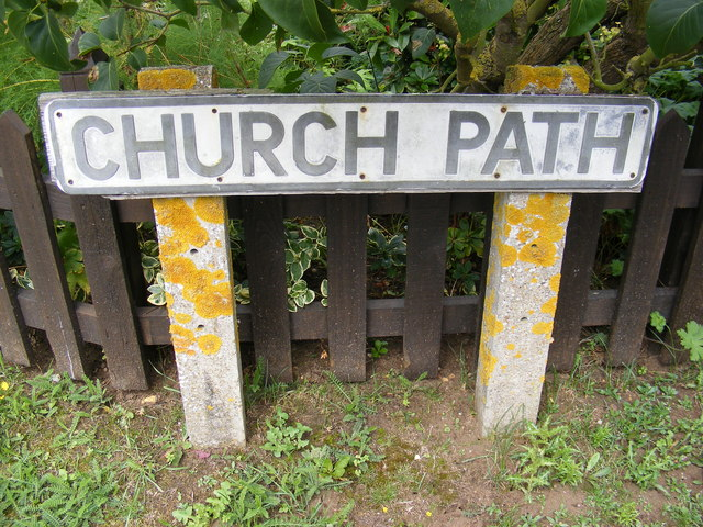 Church Path sign