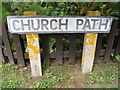 TM4160 : Church Path sign by Adrian Cable