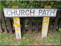 TM4160 : Church Path sign by Geographer