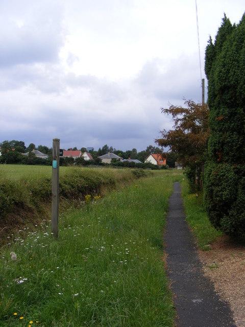 Church Path footpath to Church Road
