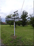 TM4160 : Roadsign on the B1121 Saxmundham Road by Geographer