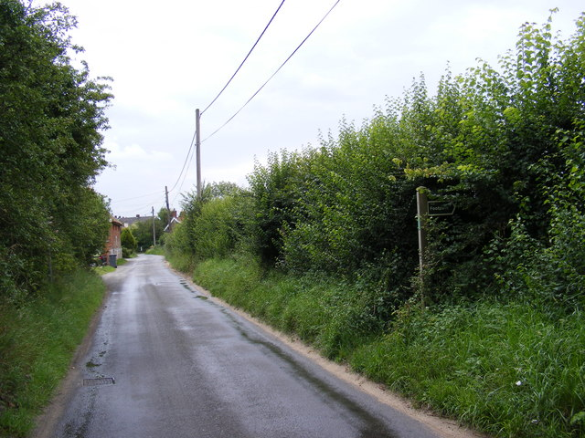 Grove Road, Friston and the footpath to Church Road