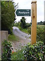 TM4160 : Grove Road & Sandlings Walk Footpath sign by Adrian Cable