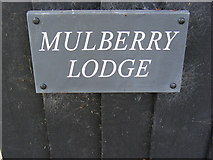 TM4160 : Mulberry Lodge sign by Geographer