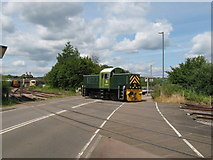 SO6302 : Dean Forest Railway crossing at Lydney Junction by Gareth James