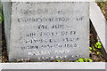 TQ4469 : Close up of inscription on gravestone of Sir Malcolm Campbell by Ian Capper