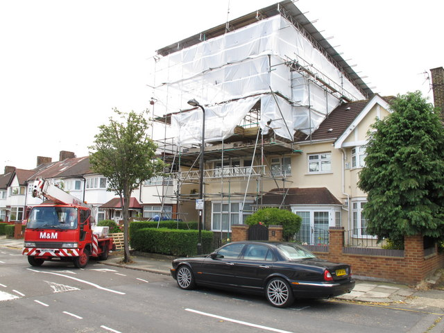 House Tented For Loft Conversion 169 David Hawgood Cc By Sa