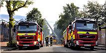 J3472 : Fire appliances (on call), Belfast (4) by Albert Bridge