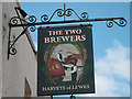 TQ6349 : The Two Brewers sign by Oast House Archive