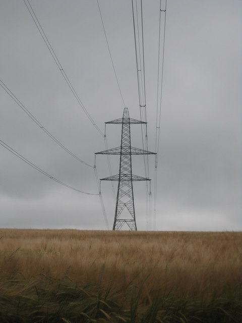 Pylon in a field at Costislost