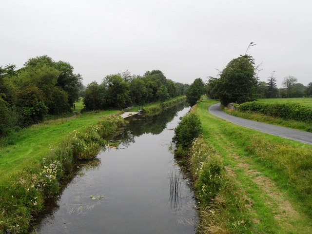 Grand Canal from Toberdaly Bridge in Co. Offaly