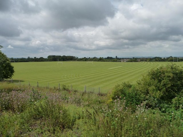 Sports ground west of the railway line