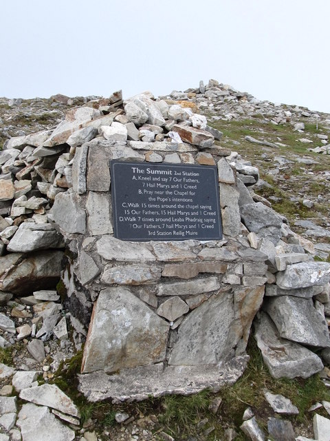 The Second Pilgrim Station on the summit of Croagh Patrick