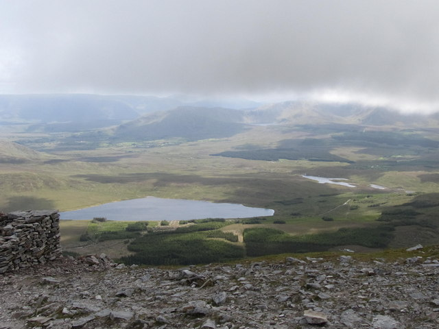 Lough Nacorra from the summit of Croagh Patrick