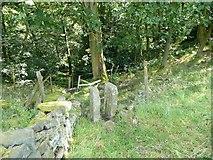 SE0026 : Stile on Hebden Royd Footpath 20, Mytholmroyd by Humphrey Bolton