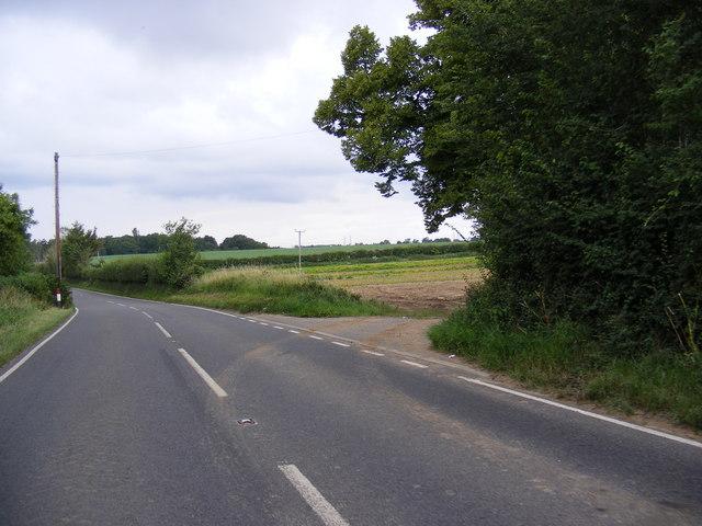 A1094 Aldeburgh Road & The entrance to Park Farm