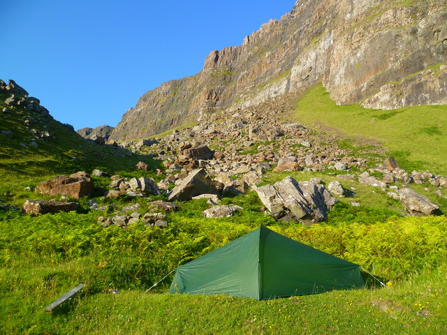 Camping on Ardmeanach