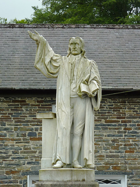 Statue Of Daniel Rowland At Llangeitho 169 Roger Kidd Cc By Sa 2 0 Geograph Britain And Ireland