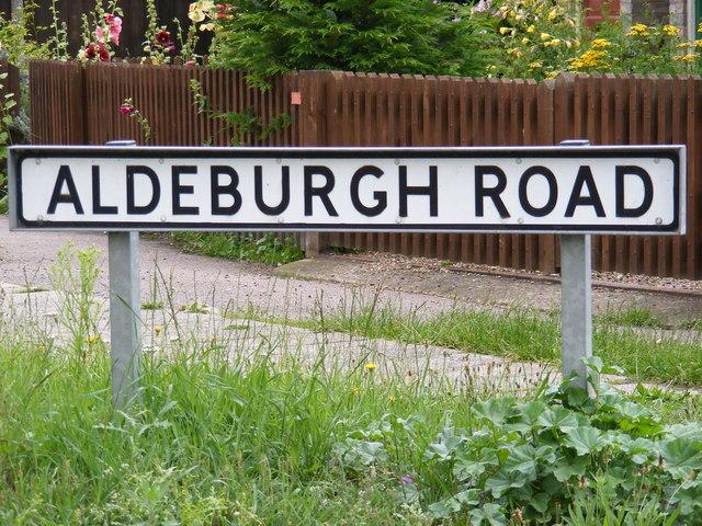 Aldeburgh Road sign