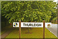 TL0558 : Thurleigh village sign by Julian Osley