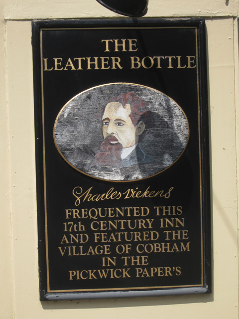 Sign at The Leather Bottle