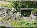 SE0025 : Trough next to line of Hebden Royd Footpath 71 at Great House, Mytholmroyd by Humphrey Bolton