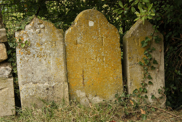 Humble headstones