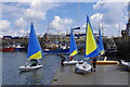 O2329 : Sailing dinghies in Dun Laoghaire harbour by Ian Taylor
