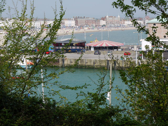 View from the Nothe Gardens towards the Pavilion