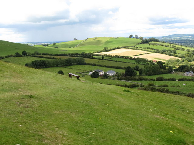 Cottages on the Corstown Road viewed from Carnbane East