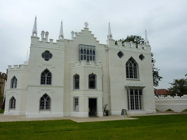Visitors' entrance to Strawberry Hill House, by Waldegrave Road, Richmond