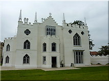 TQ1572 : Visitors' entrance to Strawberry Hill House, by Waldegrave Road, Richmond by pam fray
