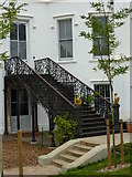 TQ1572 : Wrought iron external staircase, Strawberry Hill House, Richmond by pam fray