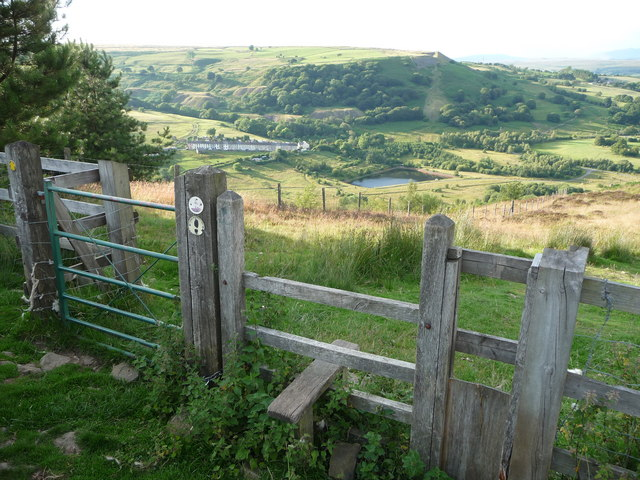 Stile And Gate Above Dare Valley Country Jeremy Bolwell