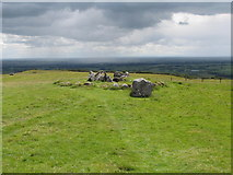 N5877 : View westwards across the summit of Slieve Na Calliagh by Eric Jones