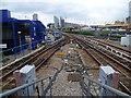 TQ3780 : View from the platform at Poplar DLR station by Marathon