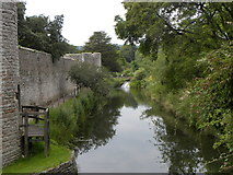 ST5545 : Moat by the Bishop's Palace by Colin Bews