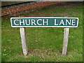 TG0827 : Church Lane sign by Adrian Cable