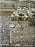 ST5545 : Cut benchmark on Wells Cathedral by Neil Owen