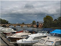 SU7682 : Boats by River Thames at Henley by Paul Gillett