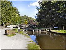 SD9927 : Blackpit Lock, Rochdale Canal by David Dixon