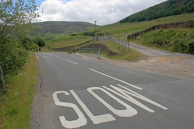 'Slow' Sign on Road