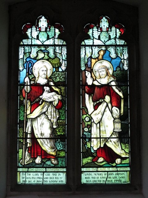 St. Helen's  Church, Whitley Chapel - stained glass window (2)