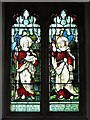 NY9257 : St. Helen's  Church, Whitley Chapel - stained glass window (2) by Mike Quinn